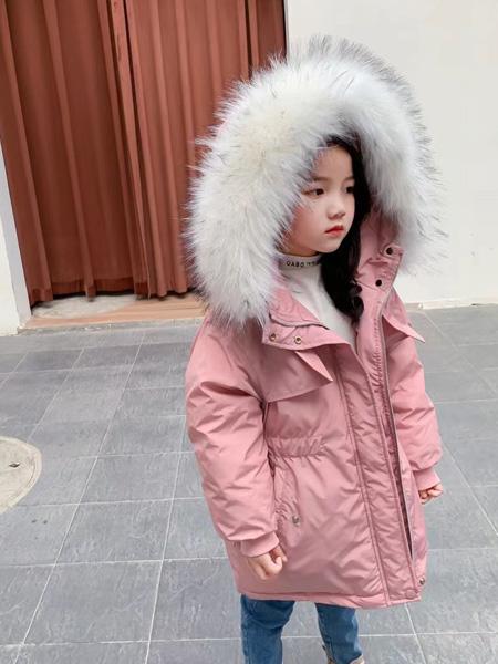 妙优童装品牌2021秋冬粉色甜美羽绒服套装