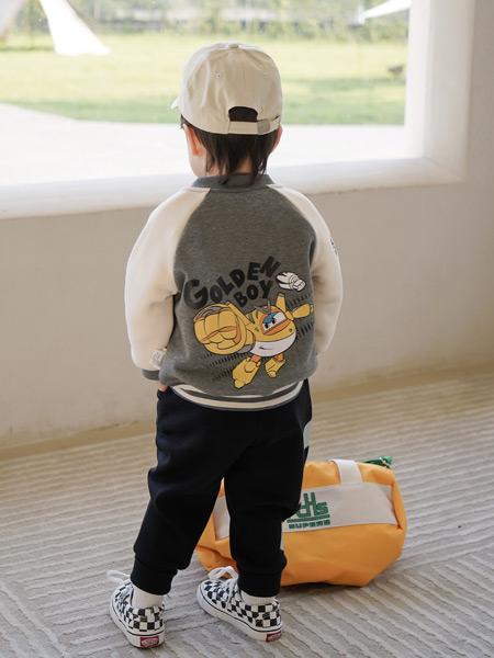 贝蓓茵童装品牌2021秋季卡通潮流印画外套