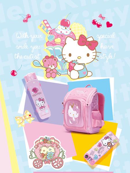 M.M party品牌凯蒂猫HELLO KITTY书包文具盒水壶系列产品