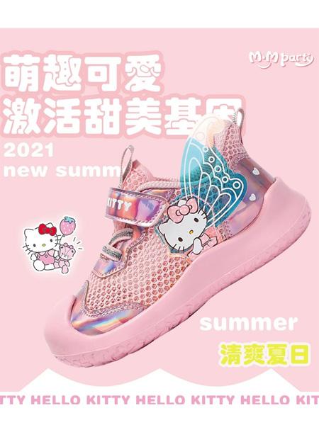 M.M party童鞋品牌2021秋冬凯蒂猫HELLO KITTY网面运动鞋