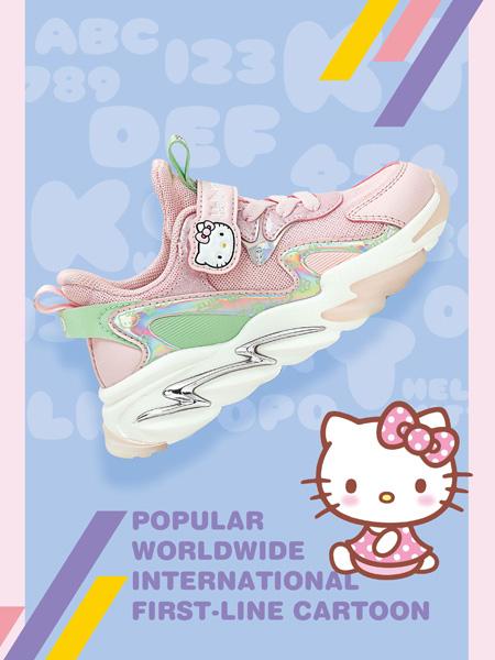 M.M party童鞋品牌2021秋冬凯蒂猫HELLO KITTY撞色网面透气运动鞋
