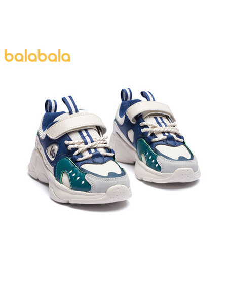 巴拉巴拉童�b品牌2021秋季新款小白鞋防滑耐磨舒�m