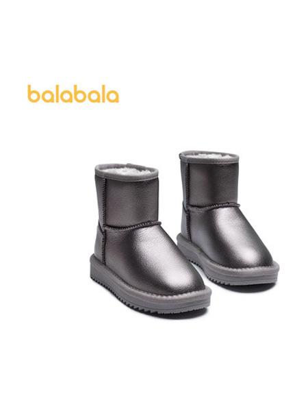 巴拉巴拉童�b品牌2021秋季男童����棉靴�r尚