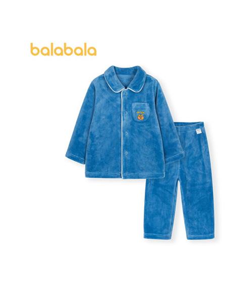 巴拉巴拉童�b品牌2021秋季����睡衣套�b男童�和�家居服