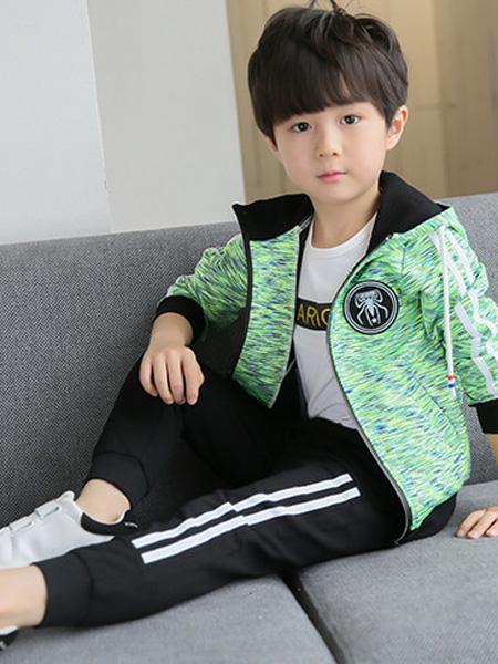 宾果童话童装品牌2021秋季撞色波点纹路外套