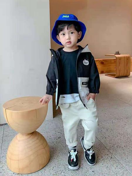 宾果童话童装品牌2021秋季黑色休闲外套