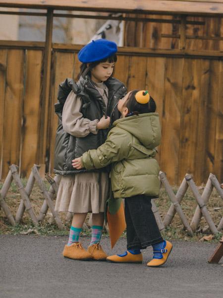 蒂萨纳D`sana童装品牌2021秋季纯色加绒马甲套装