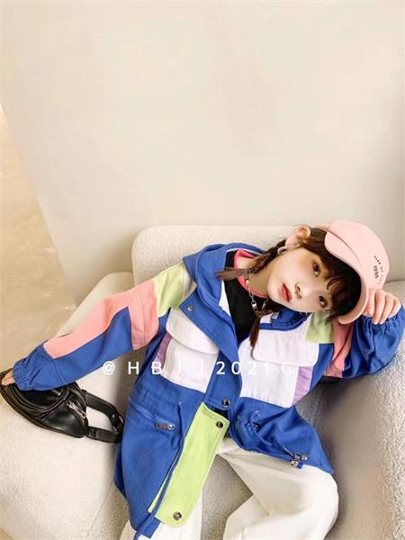 熊猫童年童装品牌2021秋季撞色拼接休闲外套