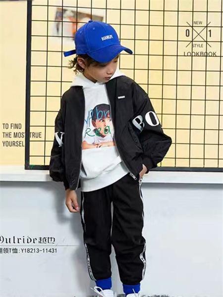 熊猫童年童装品牌2021秋季纯色英文刺绣薄款外套