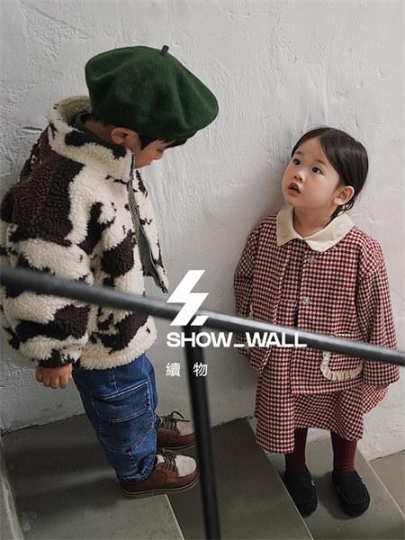 咪萨童装品牌2021秋冬羊绒印花高领毛衣外套