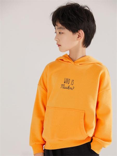 MUCMUKN木可木可童装品牌2021秋季黄色刺绣卫衣