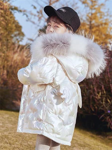 YC.KIDS童装品牌2021秋冬亮色羊绒光滑羽绒服