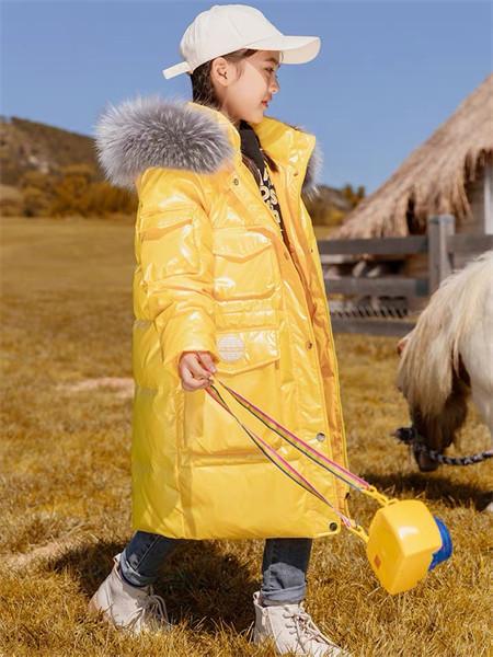 YC.KIDS童装品牌2021秋冬长款纯色棉麻棉衣外套