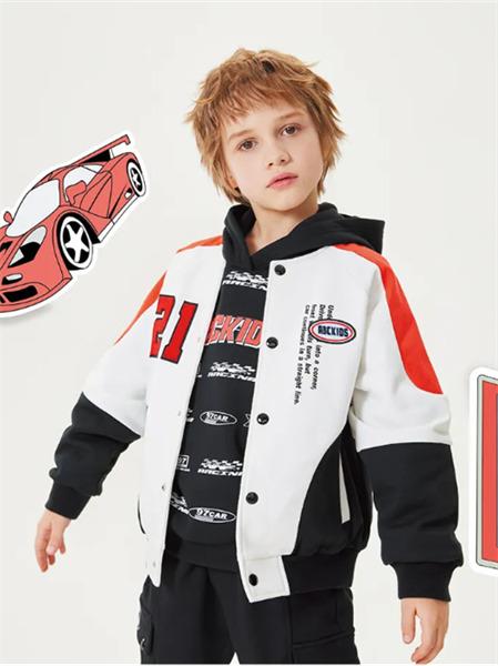 ABC KIDS童装品牌2021秋季赛车手刺绣英文外套