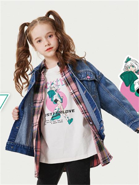 ABC KIDS童装品牌2021秋季二次元刺绣印花打底衫