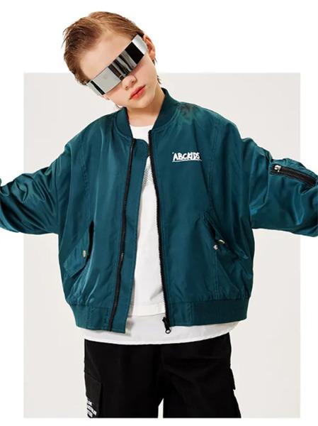 ABC KIDS童装品牌2021秋季英文刺绣薄款休闲外套