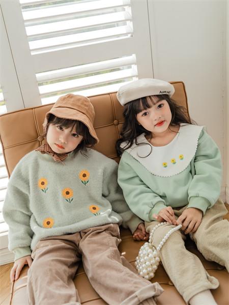 迪士汤姆童装品牌2021秋季雪纺花朵刺绣上衣