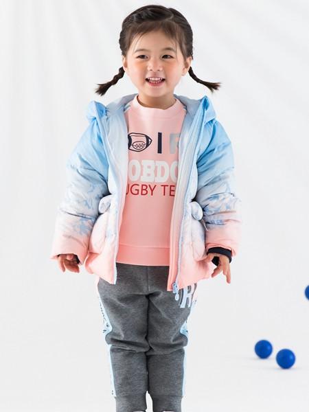 巴布豆(江苏)童装品牌2021秋冬渐变色羊绒棉衣