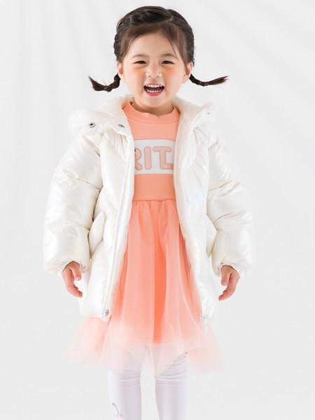 巴布豆(江苏)童装品牌2021秋纯色加绒薄款棉衣外套