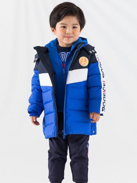 巴布豆(江苏)童装品牌2021秋冬条纹纹路棉衣外套