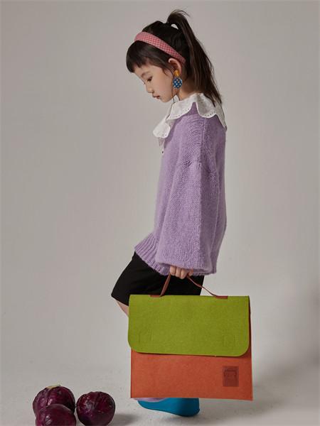 小资范童装品牌2021秋季雪纺毛衣针织衫上衣