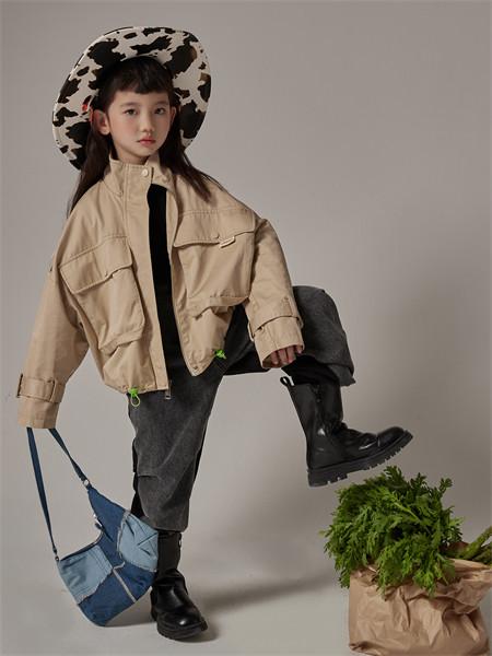 小资范童装品牌2021秋季韩版高领休闲衬衫外套