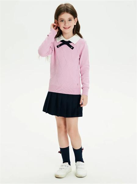 POLO SPORT童装品牌2021秋季翻领系带针织上衣