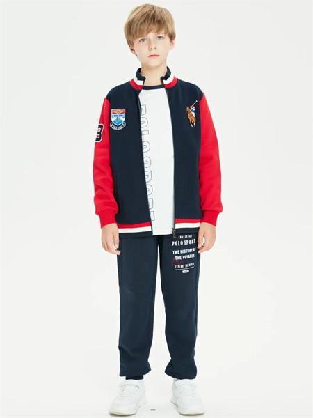 POLO SPORT童装品牌2021秋季高领刺绣印花针织外套