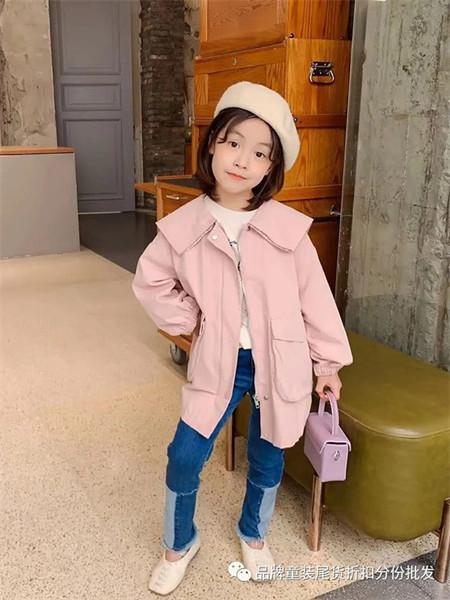 武林兵团童装品牌2021秋季雪纺粉色纯棉外套