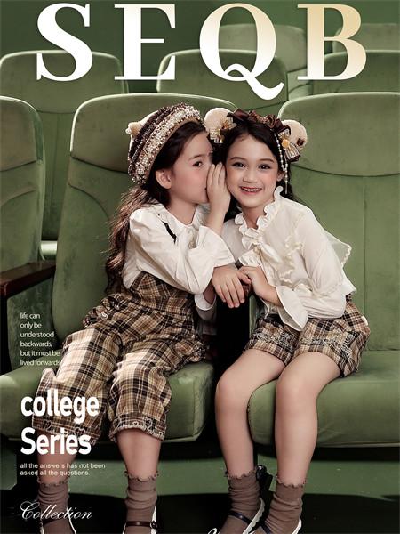 小象Q比童装品牌2021秋季褶皱花边衬衫
