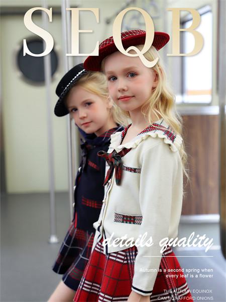 小象Q比童装品牌2021秋季蝴蝶结羊绒针织衫外套