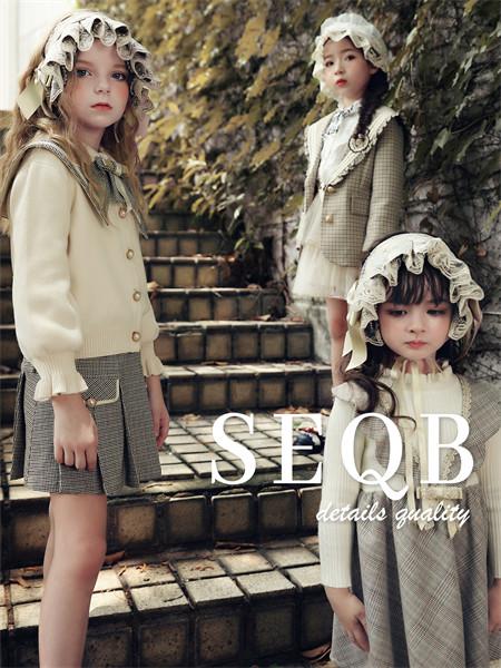 小象Q比童装品牌2021秋季蝴蝶结纯色针织衫上衣