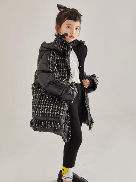 M童装品牌2021秋冬小香风黑色外套