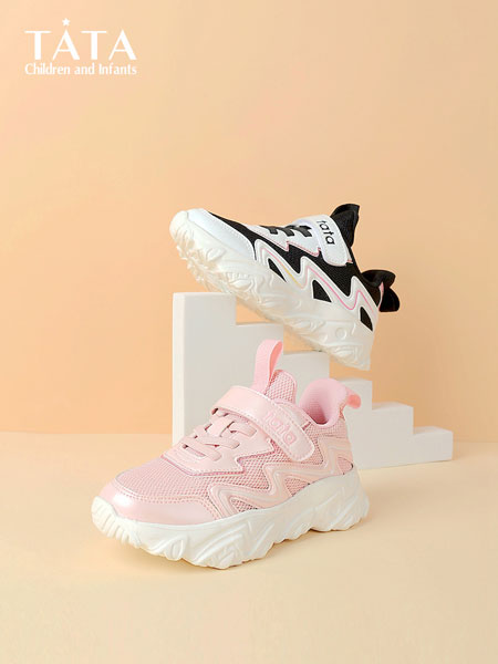 百丽国际TATA童鞋品牌2021秋冬厚底时髦透气运动鞋