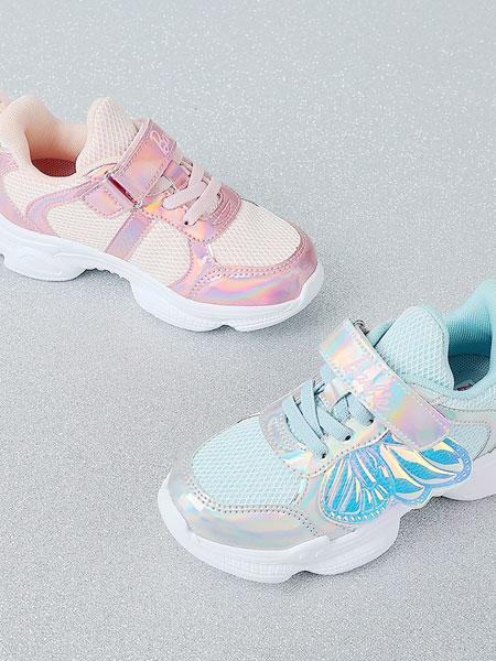 百丽国际TATA童鞋品牌2021秋冬魔术贴漂亮运动鞋