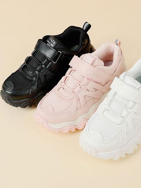 百丽国际TATA童鞋品牌2021秋冬魔术贴厚底舒适运动鞋