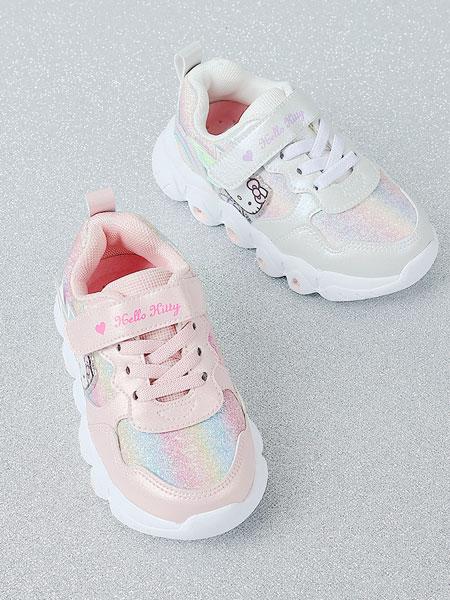 百丽国际TATA童鞋品牌2021秋冬小猫魔术贴运动鞋